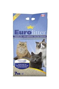 Наполнитель Eurolitter: комкующийся наполнитель  Контроль запаха , без пыли (Dust Free) с ароматом детской присыпки - фото 11092