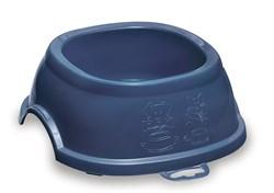 Миска Stefanplast нескользящая Break 1, синяя, 400мл, 17*17*6см (96001) - фото 4669