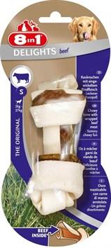 8in1 DELIGHTS Beef S косточка с говядиной для мелких и средних собак 11 см - фото 8945