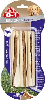 8in1 DELIGHTS Beef палочки с говядиной для мелких и средних собак 13 см 3 шт - фото 8947