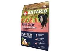 Корм ONTARIO для взрослых собак крупных пород с курицей и картофелем