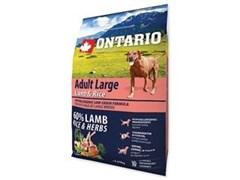Корм ONTARIO для взрослых собак крупных пород с янгенком, индейкой и рисом