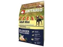 Корм ONTARIO для взрослых собак малых пород с курицей и картофелем