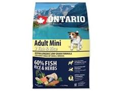 Корм ONTARIO для взрослых собак малых пород 7 видов рыб и рис