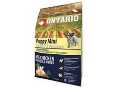 Корм ONTARIO для щенков малых пород с курицей и картофелем