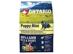 Корм ONTARIO для щенков малых пород с ягненком и рисом