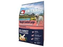 Корм ONTARIO для взрослых собак крупных пород - контроль веса - с с индейкой и картофелем