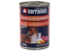 Консервы ONTARIO для собак с олениной и клюквой