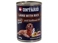 Консервы ONTARIO для собак с ягненком и рисом