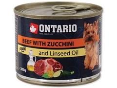 Консервы ONTARIO для собак малых пород с говядиной и цукини