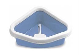 Туалет угловой Stefanplast Sprint Corner, с рамкой и совочком, 40*56*14см