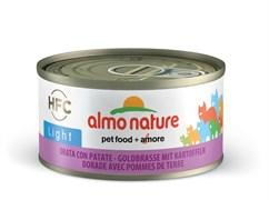 Консервы низкокалорийные Almo Nature HFC для Кошек Морской лещ с картофелем (HFC Adult Cat Cat Sea Bream with potatoes Light) 70 г