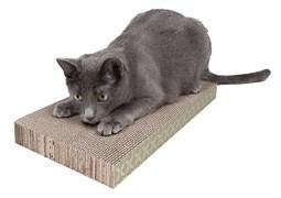 Когтеточка-доска Kitty City 4х25х46 см. большая, картон, Wide corrugate scratcher