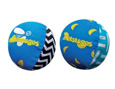 Игрушка Petstages для кошек Мяч текстильный для ночных игр 4 см 2 шт