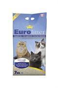 Наполнитель Eurolitter: комкующийся наполнитель  Контроль запаха , без пыли (Dust Free) с ароматом детской присыпки