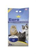 Наполнитель Eurolitter: комкующийся наполнитель  Контроль запаха , без пыли (Dust Free) без аромата