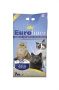 Наполнитель Eurolitter: комкующийся наполнитель  Контроль запаха , без пыли (Dust Free) с ароматом лаванды