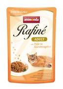 Паучи для кошек Animonda Rafiné Soupé Adult  с индейкой в морковном желе