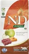 Беззерновой корм FARMINA ND с олениной, тыквой и яблоком для взрослых кошек