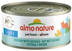 Консервы низкокалорийные Almo Nature HFC для Кошек с Курицей и киноа (HFC Adult Cat Light Chicken with Qinoa) 70 г
