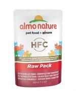 "Паучи Almo Nature 75% мяса для Кошек ""Филе Тунца с курицей"" (Classic Raw Pack - Chicken and Tuna Fillets)"