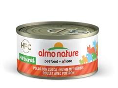Консервы Almo Nature для Кошек с Курицей и Тыквой 75% мяса (Legend Adult Cat Chicken Pumpkin) 70 г