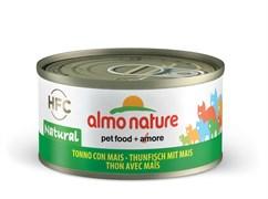 Консервы Almo Nature для Кошек с Тунцом и Сладкой кукурузой (Legend Adult Cat Tuna Sweet Corn) 70 г