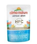 Паучи Almo Nature для кастрир. котов и кошек с полосатым Тунцом для кошек (Classic Light Skip Jack Tuna)