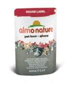 Паучи Almo Nature для Кошек с тунцом и камбалой (Rouge label Tuna Sole Fillets), 55г.