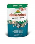 Паучи Almo Nature 75% мяса для Кошек с макрелью (Green label Raw Pack Cat Mackerel), 55г.