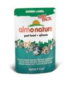 Паучи Almo Nature 75% мяса для Кошек  Филе Полосатого Тунца  (Green label Raw Pack Cat Skip Jack Tu