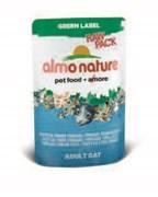 Паучи Almo Nature 75% мяса для Кошек  Филе Тонгольского Тунца  (Green label Raw Pack Cat Tonggol Tu