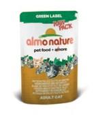 Паучи Almo Nature 75% мяса для Кошек  Куриная грудка и Утиное филе  (Green label Raw Pack Chicken B