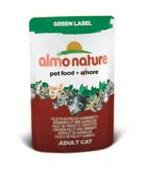 Паучи Almo Nature 75% мяса для Кошек  Куриное филе и Креветки  (Green label Cat Chicken Fillet Shri