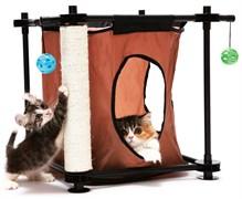 Игровой комплекс с когтеточкой Kitty City для кошек: Тайное укрытие.  Hideaway : 44*45*45см, сизаль