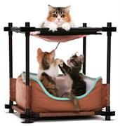 Лежак Kitty City для кошек: Барские покои.  Cozy Bed : 44*45*45см (sp0311).