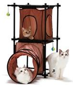 Игровой комплекс Kitty City для кошек: Манхэттен.  Tunnel Tower : 79*45*91см (sp0313).