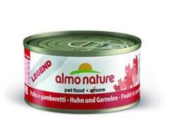 Консервы Almo Nature для Кошек с Курицей и Креветками 75% мяса (Legend Adult Cat Chicken Shrimps) 70