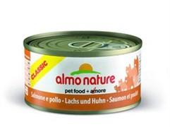 Консервы Almo Nature для Кошек с Лососем и Курицей (Classic Adult Cat Salmon Chicken) 70 г