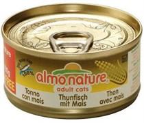 Консервы Almo Nature для Кошек с Тунцом и Сладкой кукурузой (Classic Adult Cat Tuna/Sweet Corn)