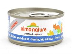 Консервы Almo Nature для Кошек с Тунцом, Курицей и Сыром 75% мяса (Legend Adult Cat Tuna, Chicken, C