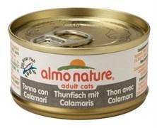 Консервы Almo Nature для Кошек Тунец с кальмаром (Classic Adult Cat Tuna/Squids) 9019H, 70 г.