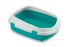 Туалет Stefanplast Queen с рамкой, аквамариновый