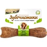 Зубочистики  для собак средних пород с кальцием со вкусом говядины