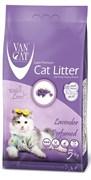 Комкующийся наполнитель VAN CAT Lavender с ароматом лаванды без пыли