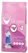 Комкующийся наполнитель VAN CAT Baby Powder с ароматом детской присыпки без пыли