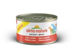 Консервы ALMO NATURE для Собак с курицей и телятиной (Classic Chicken and Veal)