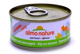 Консервы Almo Nature для Кошек с курицей и ананасами в желе 75% мяса (Legend in Jelly Adult Chicken and pineapple), 70 г