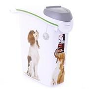 Контейнер для корма Curver PetLife  Собачьи новости  на 10кг/23л, 23*50*50см