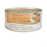 Консервы APPLAWS для Кошек с Курицей и Скумбрией в желе (Cat Jelly Chicken/Mackerel)